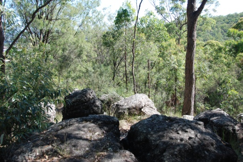 Rocks for exploring and attractive lookouts feature in this walk